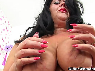 English mature Candy Cummings has put on sexy lingerie and has wild plans for you tonight (brand NEW video available in Full HD 1080P). Bonus video: British milf Katie Coquard.
